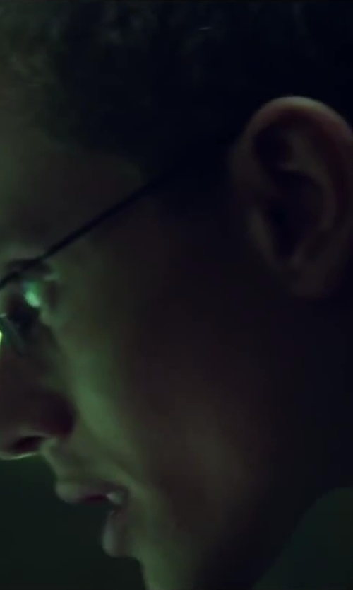 Jonny Weston with Private Eyes Men's Tasker Rectangular Reading Glasses in Project Almanac