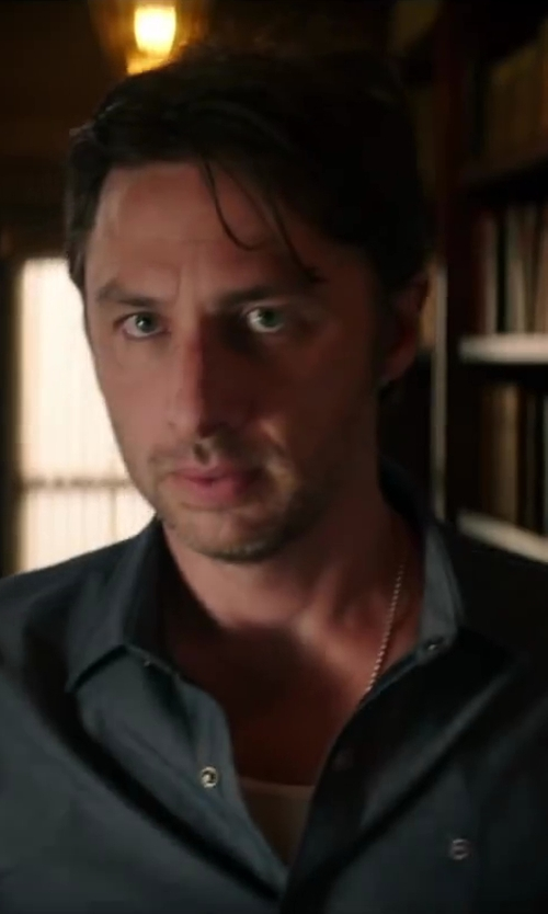 Zach Braff with Michael Kors Non-Iron Twill Solid Dress Shirt in Wish I Was Here