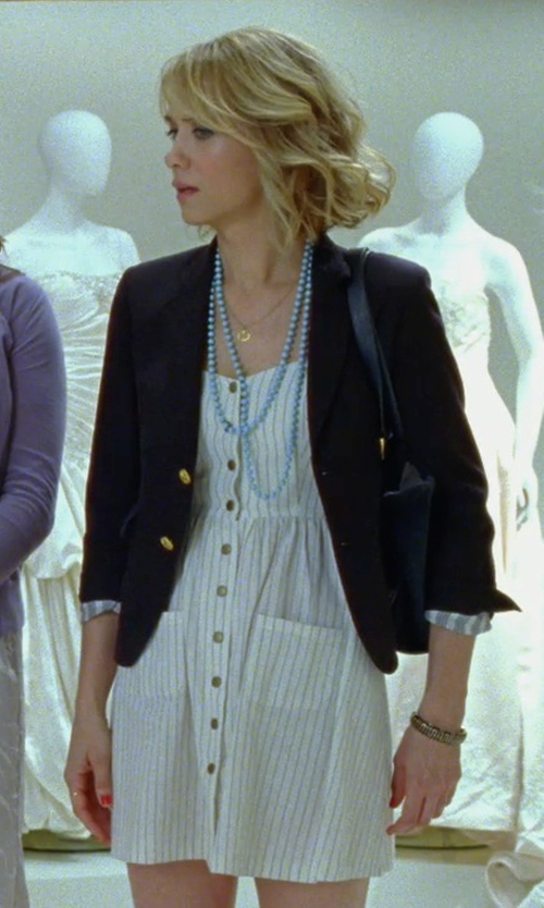 Kristen Wiig with Urban Outfitters Cope Linen Sundress in Bridesmaids