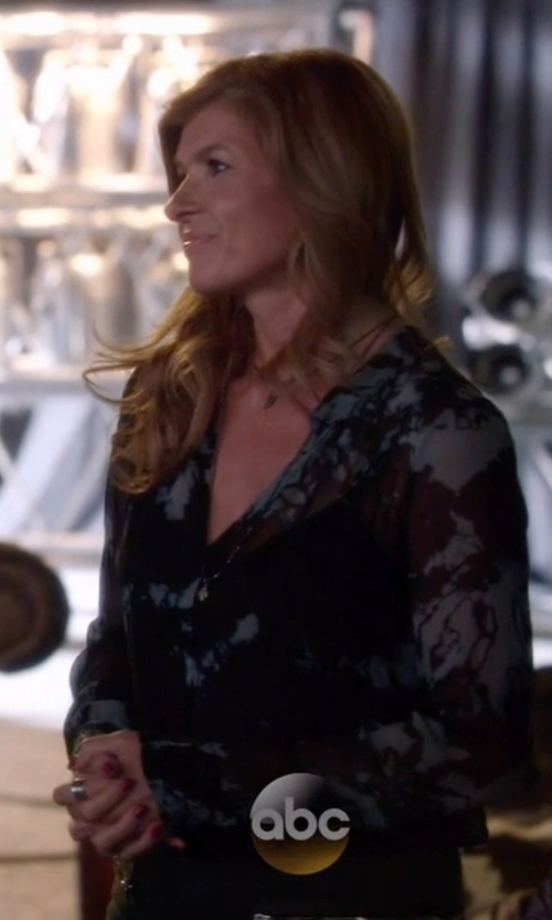 Connie Britton with Equipment Keira Top in Nashville