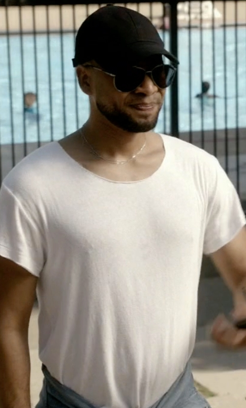 Jussie Smollett with John Elliott Classic Crew T-Shirt in Empire