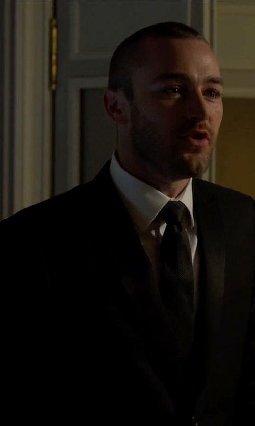 Jake McLaughlin with Strong Suit  'Aston' Trim Fit Solid Wool Tuxedo in Quantico