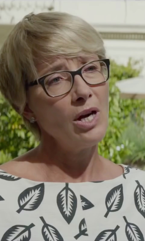 Emma Thompson with Elizabeth And James Sahara Sunglass in Burnt