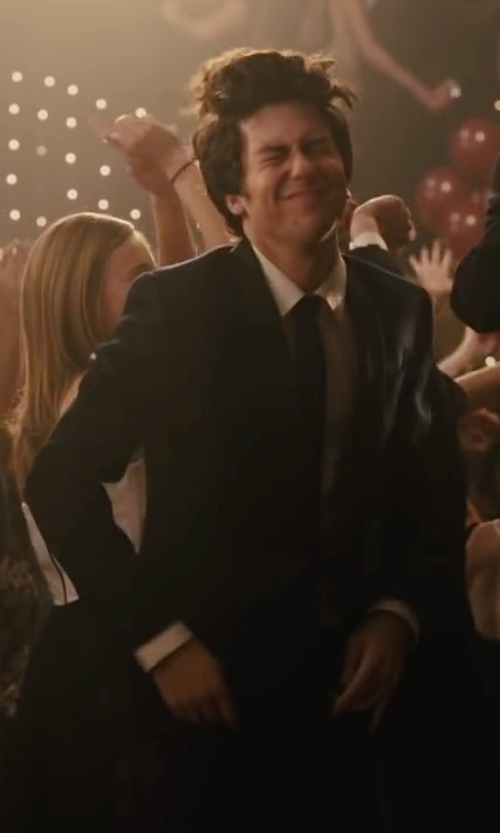 Nat Wolff with Lord & Taylor Two Piece Peaked Lapel Suit Set in Paper Towns