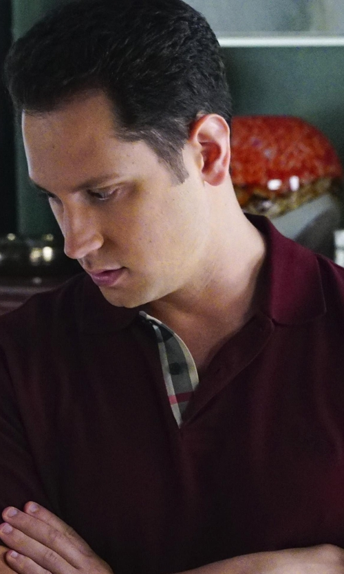 Matt McGorry with Burberry Check-Placket Piqué Polo Shirt in How To Get Away With Murder