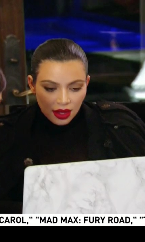 Kim Kardashian West with Wolford Colorado String-Body Turtleneck Bodysuit in Keeping Up With The Kardashians