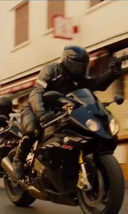 Unknown Actor with Joe Rocket Stealth Sport Leather Perforated Motorcycle Pants in Mission: Impossible - Rogue Nation