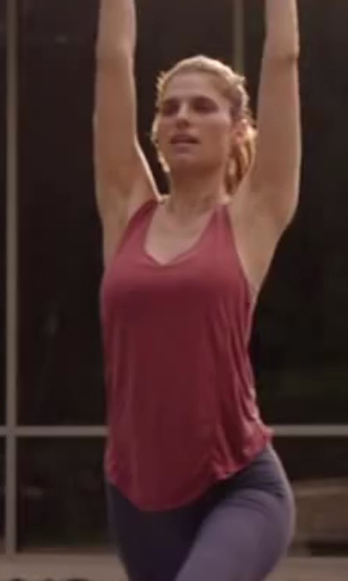 Lake Bell with Splendid Slub Racer Back Tank in Million Dollar Arm