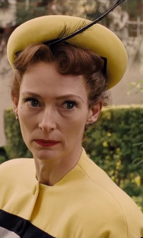 Tilda Swinton with Afoxsos British Style Bowler Hat in Hail, Caesar!