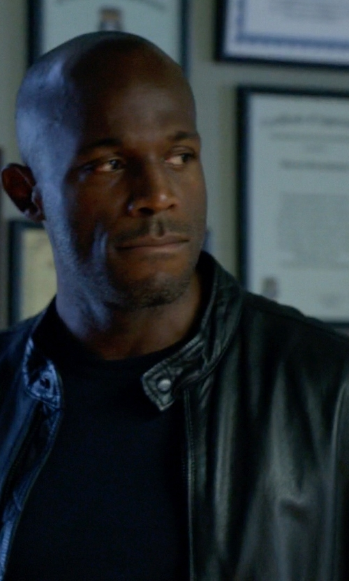 Billy Brown  with Officina 36 Leather Jacket in How To Get Away With Murder