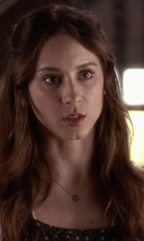 Troian Bellisario with Alex and Ani Pull Chain Necklace in Pretty Little Liars