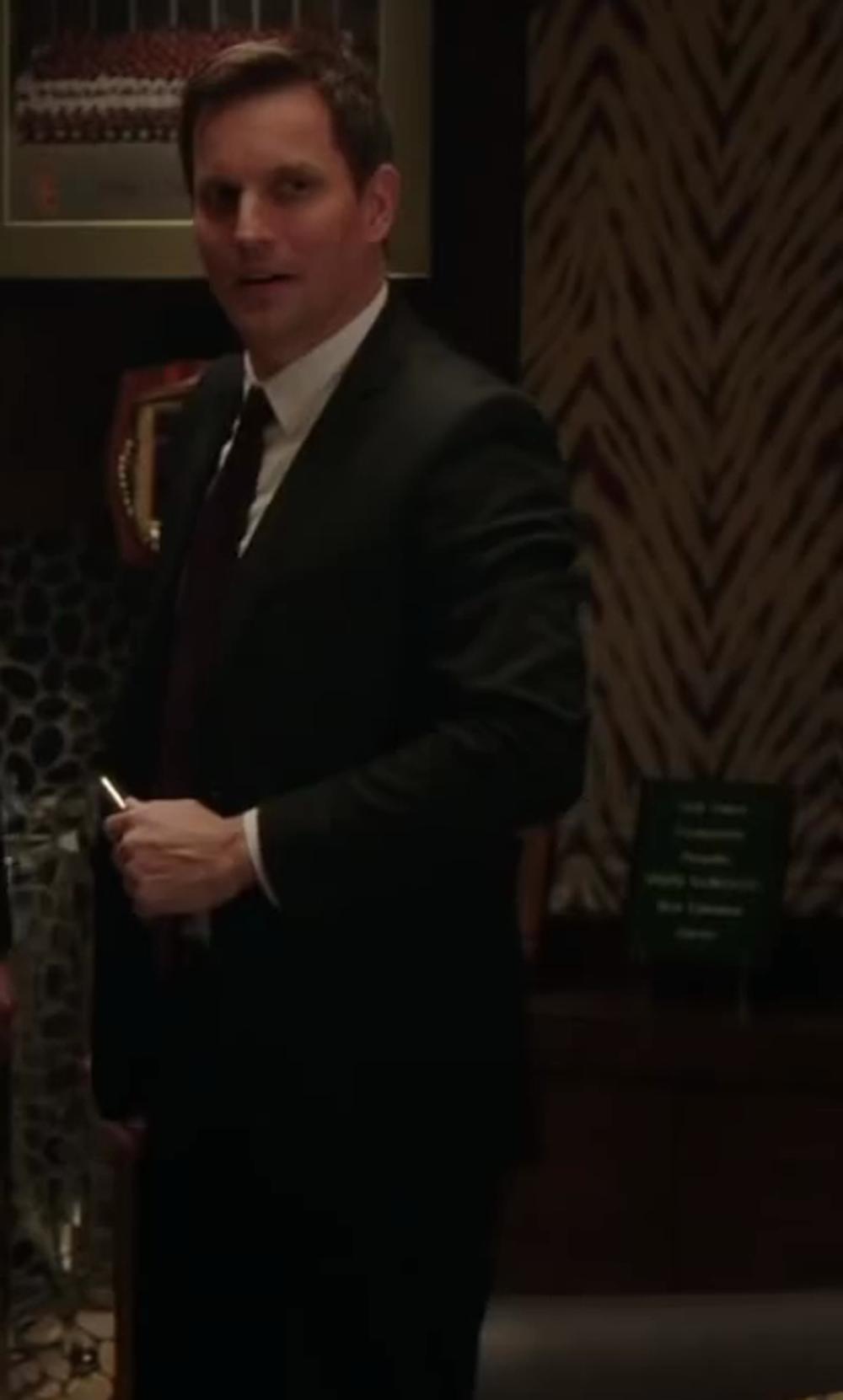 Alfani Black Solid Suit in Million Dollar Arm