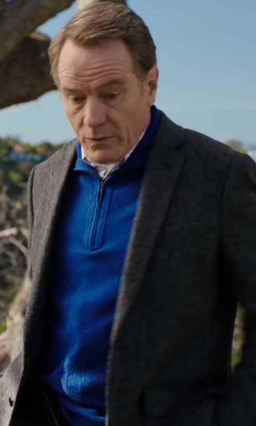 Bryan Cranston with Z Zegna Cotton & Linen Summer Tweed Blazer in Why Him?