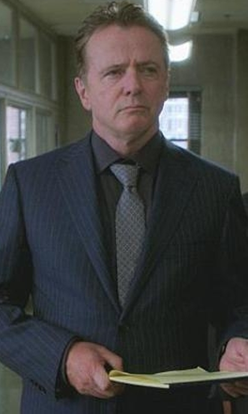 Aidan Quinn with Canali C Soft Striped Two-Button Suit in Elementary