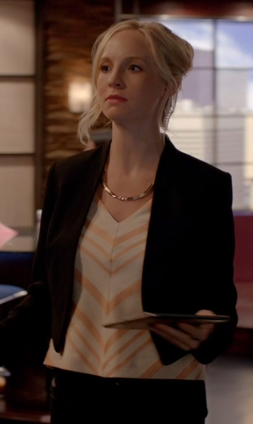 Unknown Actor with HD in Paris Chevron Midi Top in The Vampire Diaries