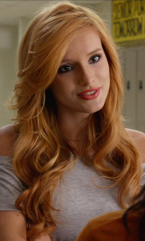 Bella Thorne with American Apparel Cotton Spandex Off-Shoulder Top in The DUFF