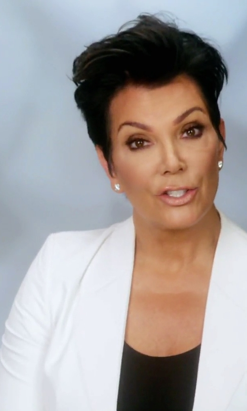 Kris Jenner with Vanessa Bruno Shawl Lapel Open Blazer in Keeping Up With The Kardashians