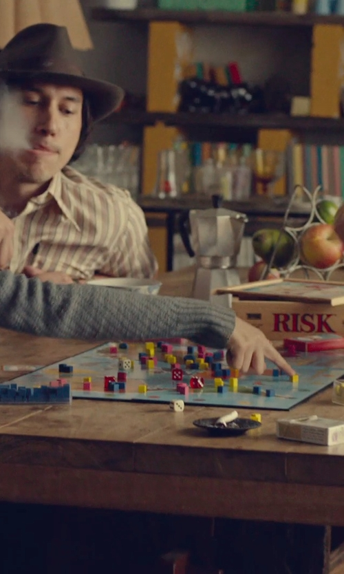 Adam Driver with Hasbro Risk Nostalgia Board Game in While We're Young