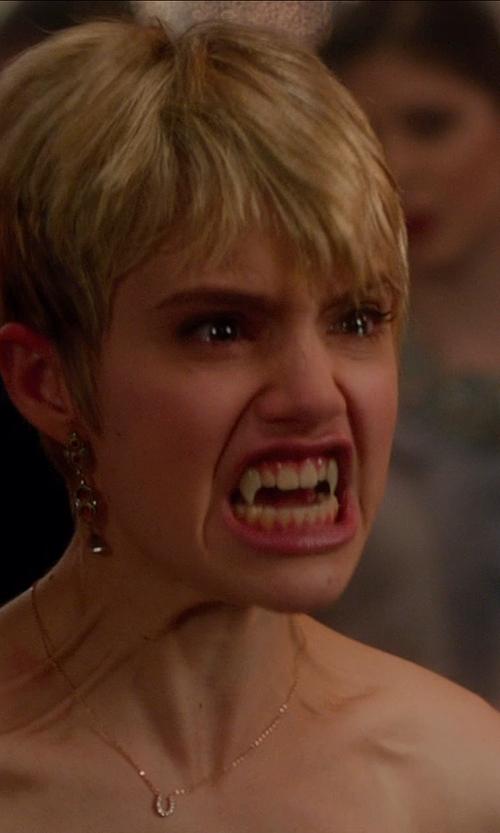 Sami Gayle with BETTINA JAVAHERI Double Sided Diamond Horseshoe Necklace in Vampire Academy