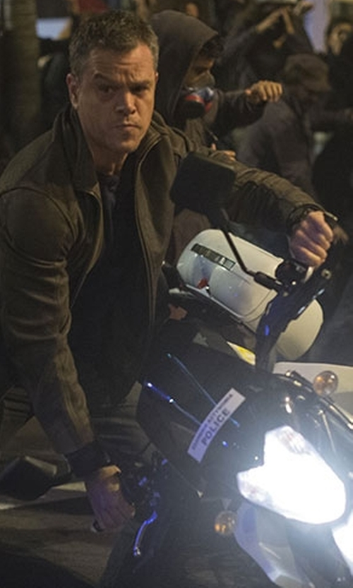 Matt Damon with Tag Heuer 'Formula 1' Black Dial Chronograph Watch in Jason Bourne
