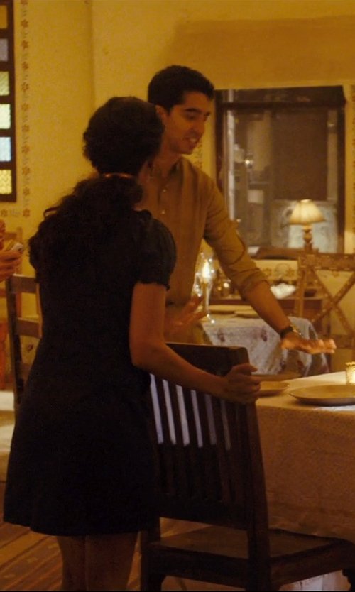 Dev Patel with Indian Attire Gold Color Art Silk Kurta in The Second Best Exotic Marigold Hotel