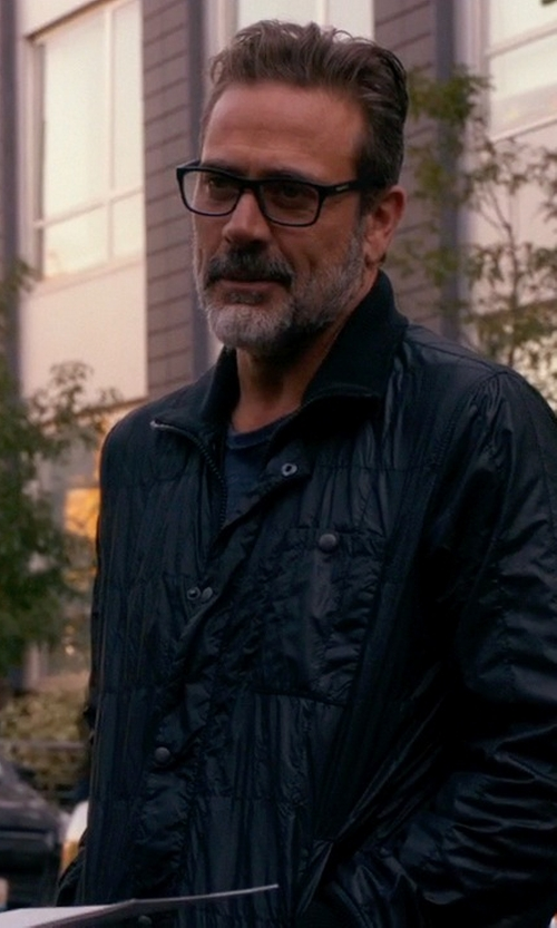 Jeffrey Dean Morgan with John Varvatos Star USA Quilted Button-Down Utility Jacket in The Good Wife
