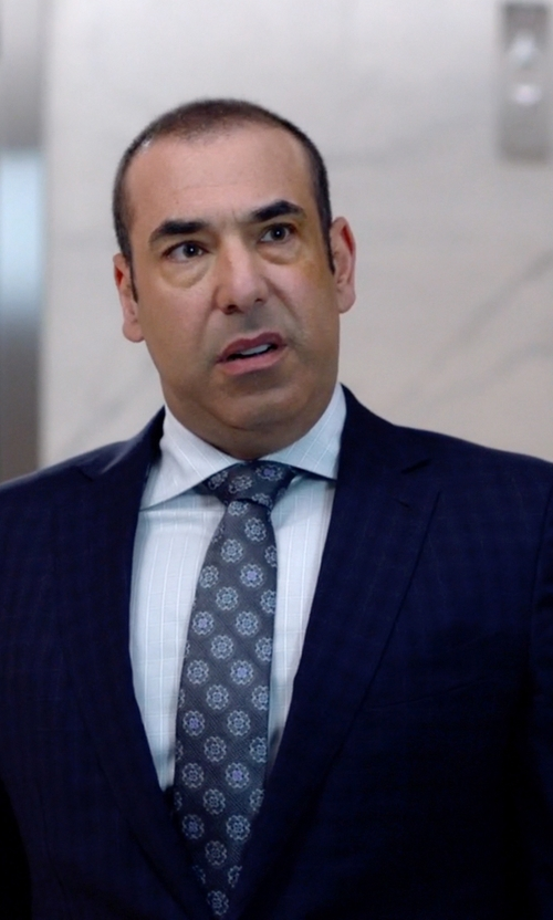Rick Hoffman with Brioni Glen Plaid Dress Shirt in Suits