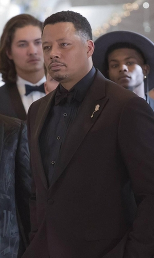 Terrence Howard  with Dolce & Gabbana Classic Bow Tie in Empire