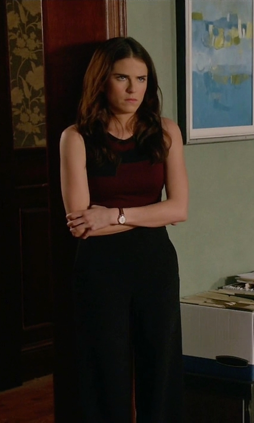 Karla Souza with Shinola Runwell Gold Leather Strap Watch in How To Get Away With Murder