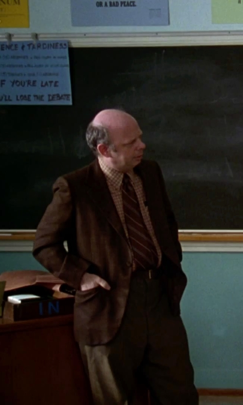 Wallace Shawn with Johnston & Murphy Leather Belt in Clueless