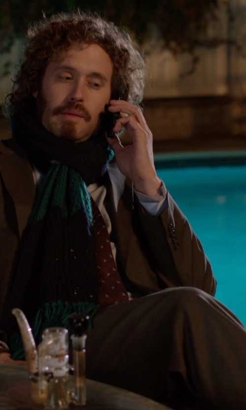 T.J. Miller with Ralph Lauren Two Piece Wool Suit in Silicon Valley
