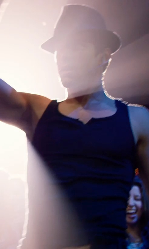 Matt Bomer with Ca4la Neoprene Band Fedora Hat in Magic Mike XXL