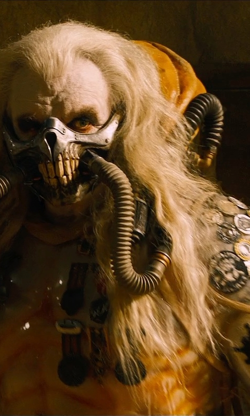 Hugh Keays-Byrne with Jenny Beavan (Costume Designer) Custom Made Immortan Joe Costume in Mad Max: Fury Road