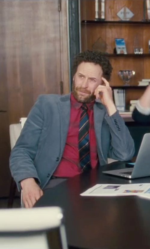 Jon Glaser with Michael Kors 'Mt. Supery Stripe' Woven Silk Tie in Trainwreck