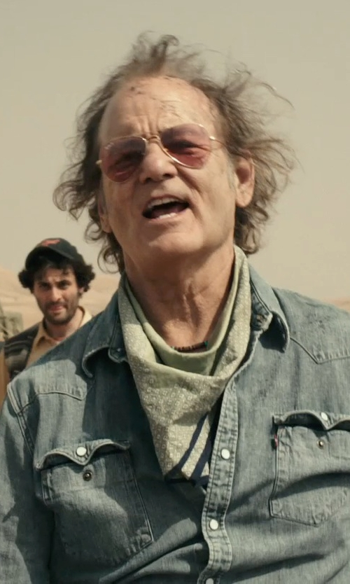 Bill Murray with Ray-Ban Aviator Sunglasses in Rock The Kasbah