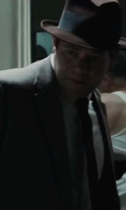 Domenick Lombardozzi with Z Zegna Micro Birdseye-Stitch Two-Button Suit in Bridge of Spies