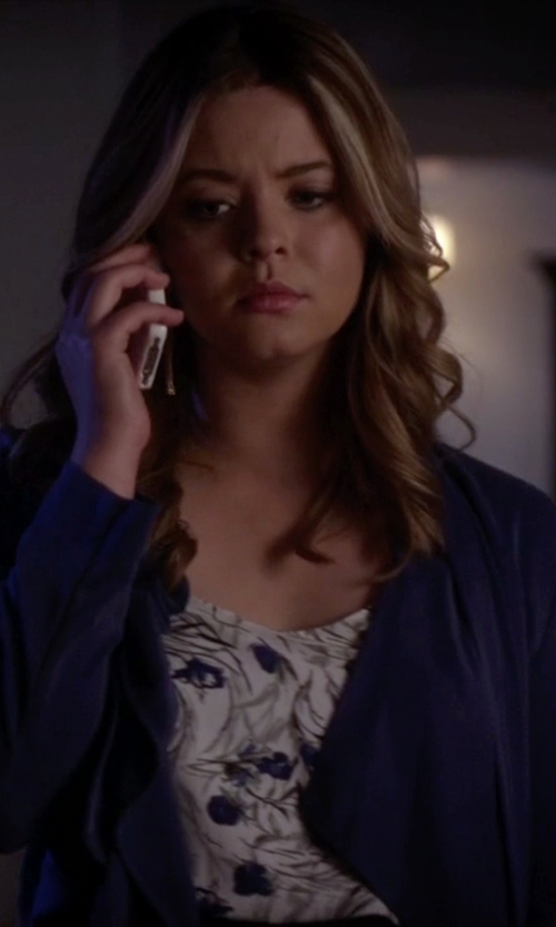 Sasha Pieterse with BCBGMAXAZRIA Donnie Draped Front Jacket in Pretty Little Liars