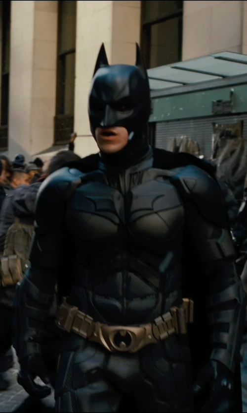 Christian Bale with Lindy Hemming (Costume Designer) Custom Made Batman Suit (Bruce Wayne) in The Dark Knight Rises