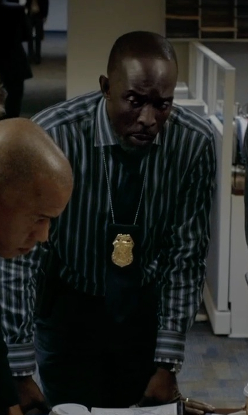 Michael Kenneth Williams with Michael Kors 'Dot Dot Dash' Woven Silk Tie in Captive