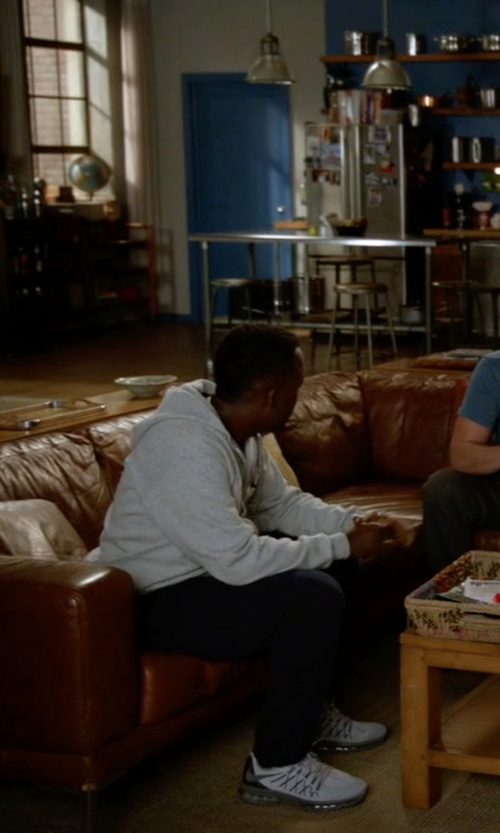 Lamorne Morris with Nike Air Max 2015 Running Shoes in New Girl