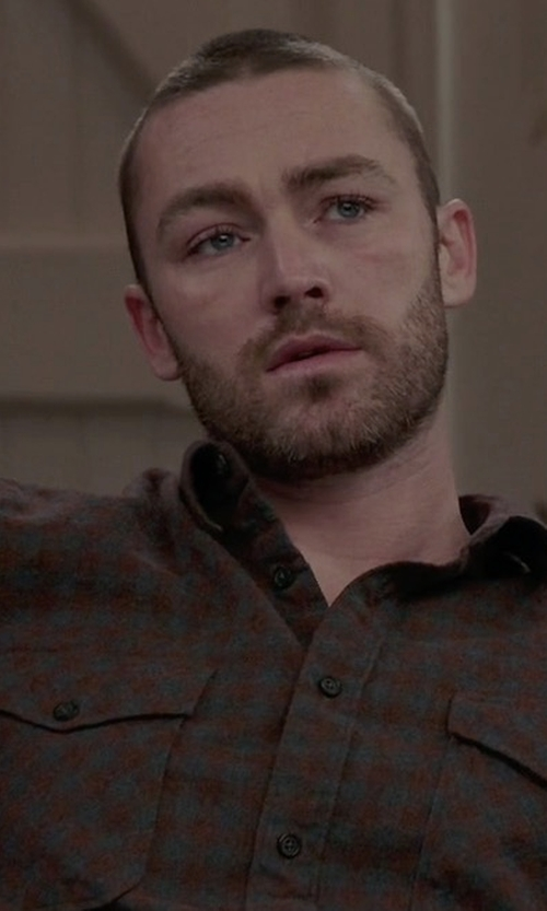 Jake McLaughlin with Polo Ralph Lauren Checked Button-Down Shirt in Quantico