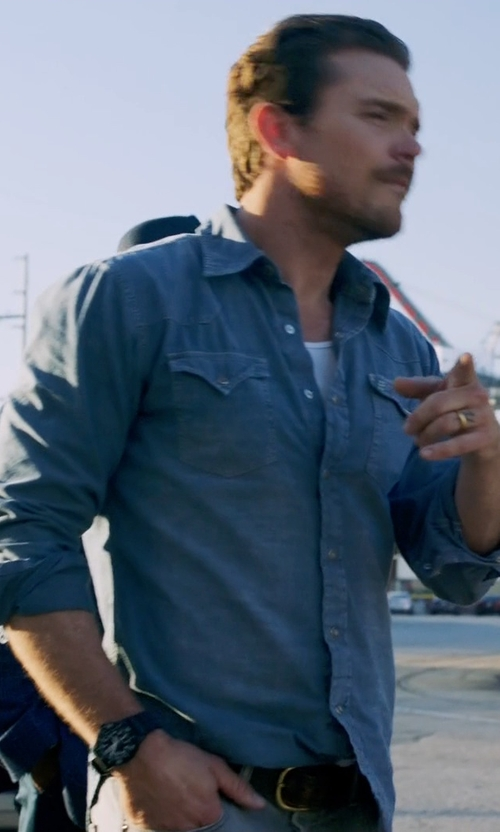 Clayne Crawford with G-Shock GA-110 Watch in Lethal Weapon