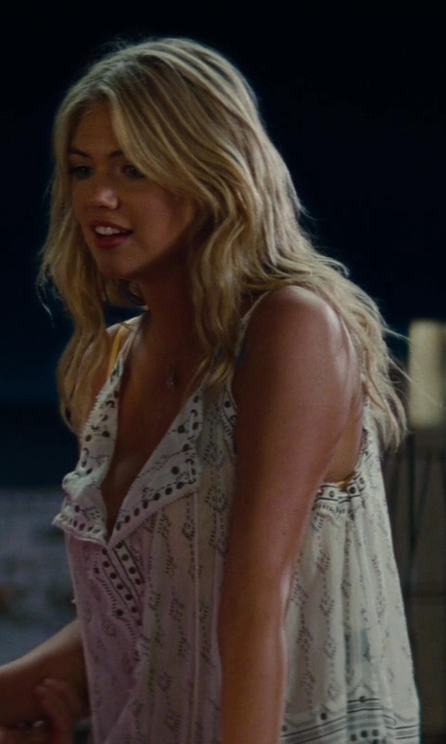 Kate Upton with Isabel Marant Amanda Studded Cotton Crepe Halter in Blanc in The Other Woman