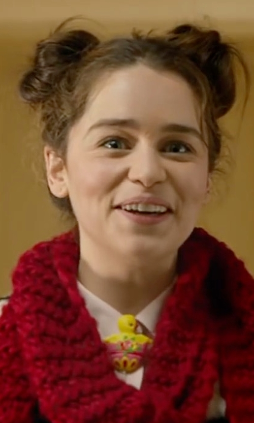 Emilia Clarke with Atmosphere Button-Front Shirt in Me Before You