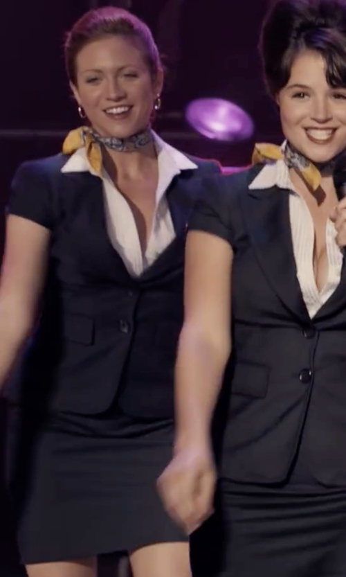 Brittany Snow with Alfred Dunner Pencil Skirt in Pitch Perfect