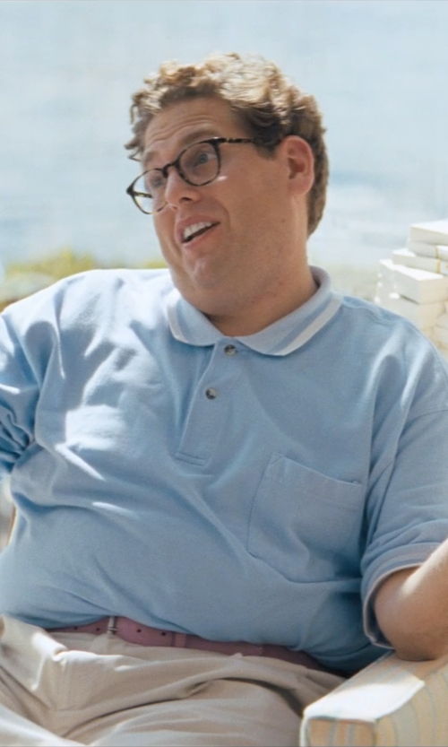 Jonah Hill with Burberry Brit Classic Fit Piqué Polo in The Wolf of Wall Street