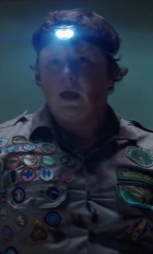 Joey Morgan with Vitchelo LED Headlamp in Scout's Guide to the Zombie Apocalypse
