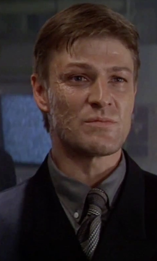 Sean Bean with Thomas Mason Ludlow Solid Shirt in GoldenEye
