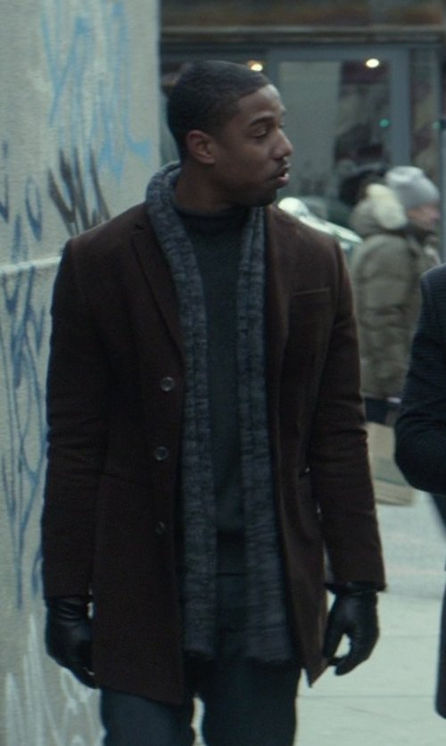 Michael B. Jordan with Dolce & Gabbana Knit Scarf in That Awkward Moment
