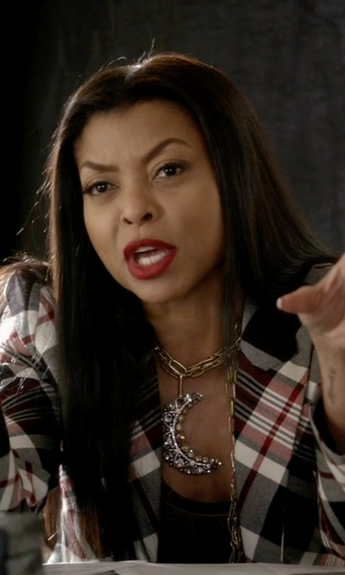 Taraji P. Henson with Effy Doro Moon Pendant Necklace in Empire